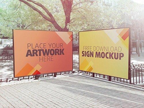 Sign Mockup 01