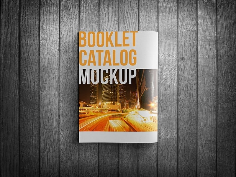 Realistic Booklet Catalog Mockup