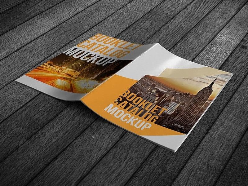 Realistic Booklet Catalog Mockup