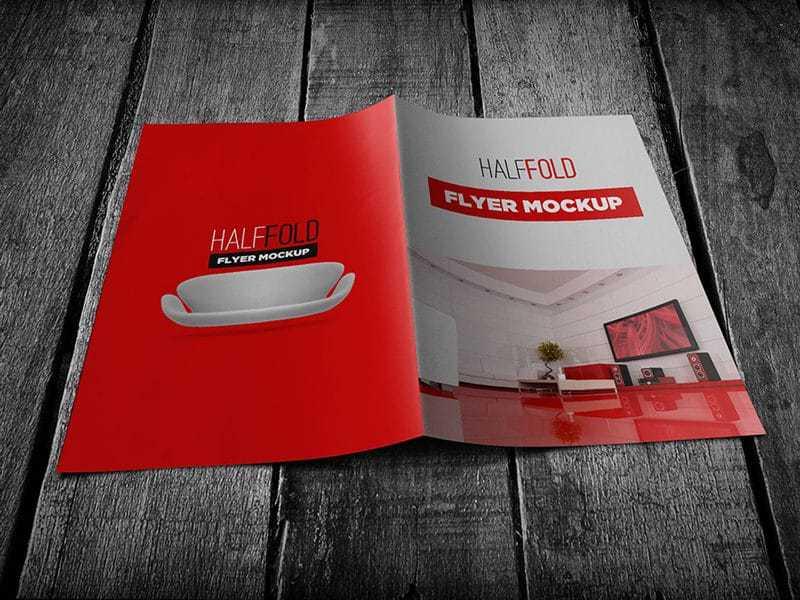 Half fold Flyer Mockup