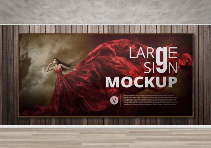 Large sign Billboard mockup