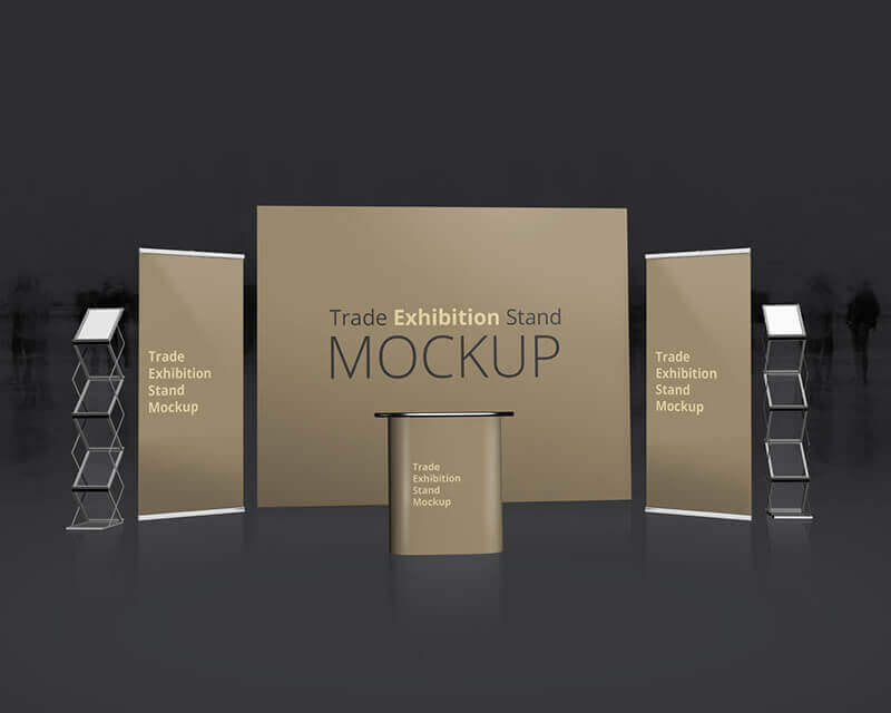 Exhibition Stand Design Mockup Free Download : Trade exhibition stand mockup