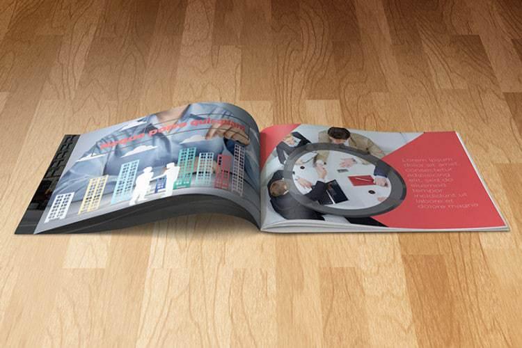 A5 Landscape Booklet Mockup