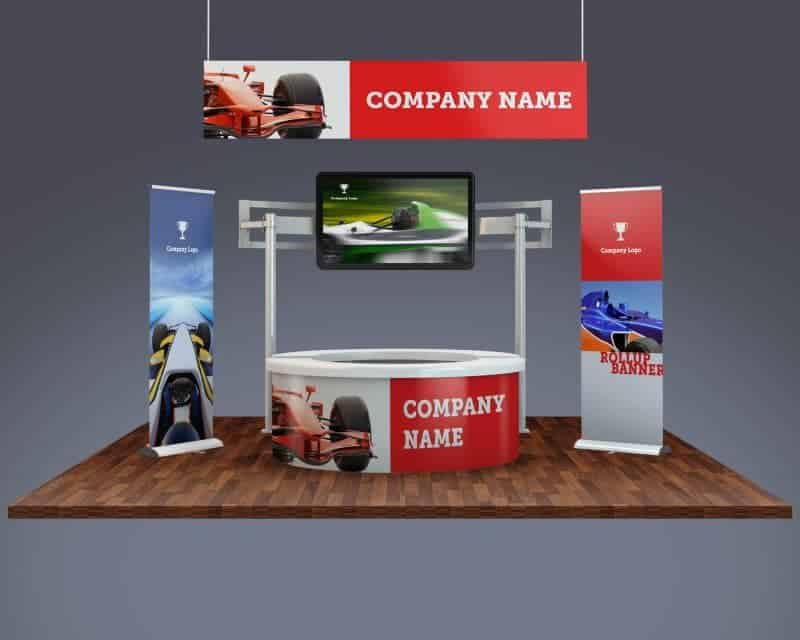 Exhibition Booth Form : Trade show exhibition booth mockup vectogravic design