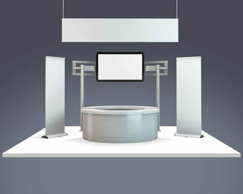 Simple Exhibition Stand Mockup : Trade show exhibition booth mockup vectogravic design