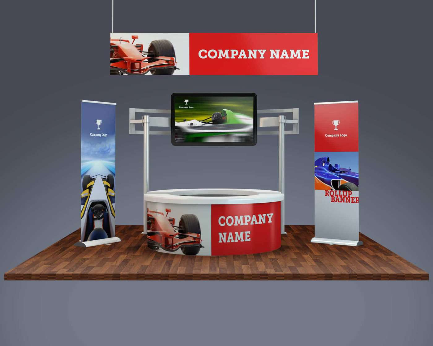 Exhibition Stand Freebies : Trade show exhibition booth mockup vectogravic designs