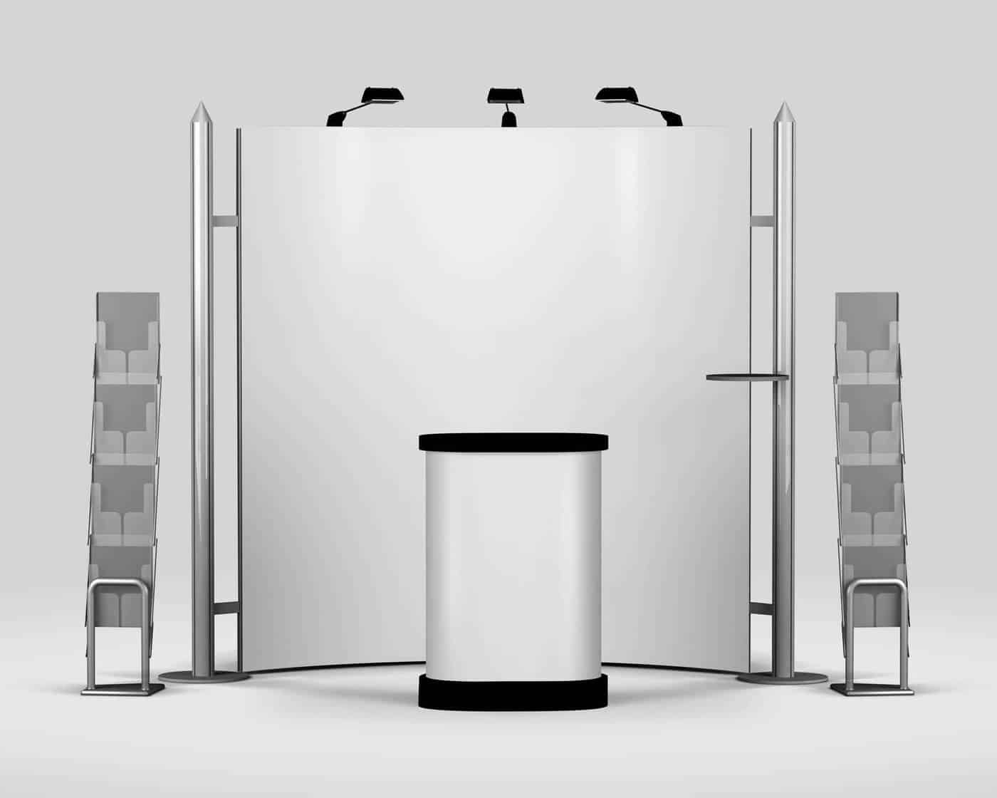 Simple Exhibition Stand Mockup : Trade show exhibition booth mockup vectogravic designs