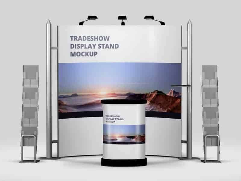 Exhibition Booth Mockup Psd : Trade show exhibition booth mockup vectogravic design