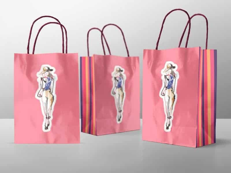 Various Shopping Bags Mockup