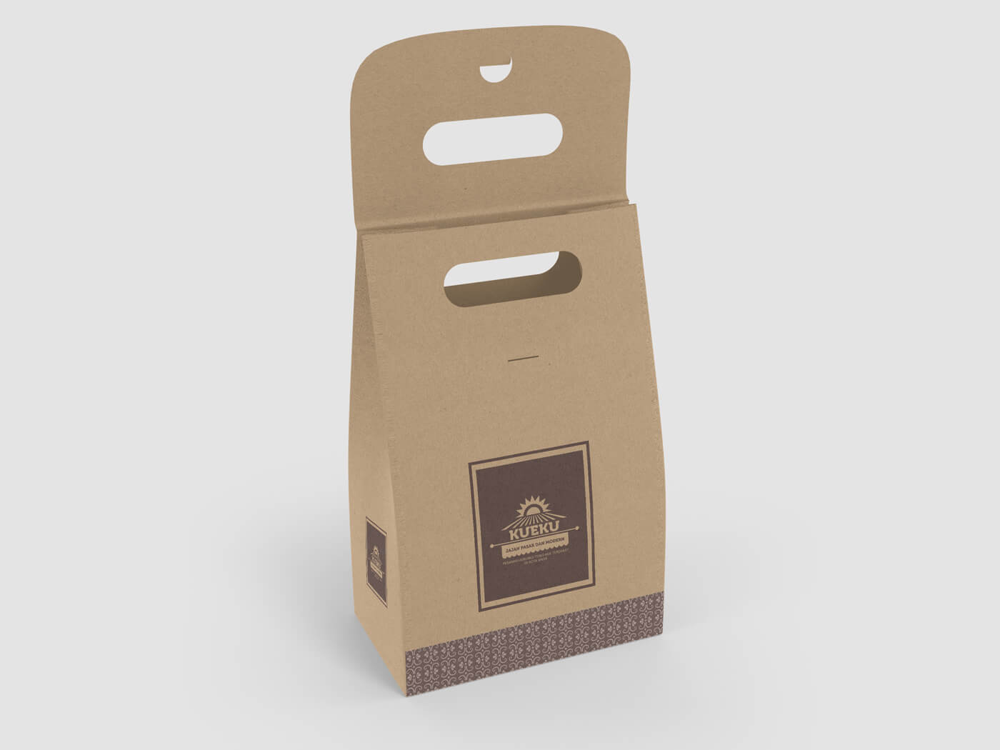 Cake and Cookie Kraft paper Bag Mockup 02