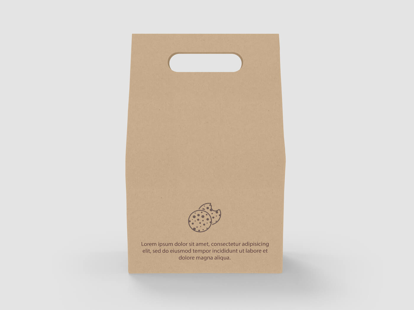 Cake and Cookie Kraft paper Bag Mockup 03