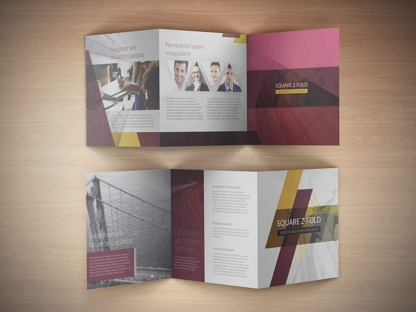 Square Z Fold Brochure Mockup 05
