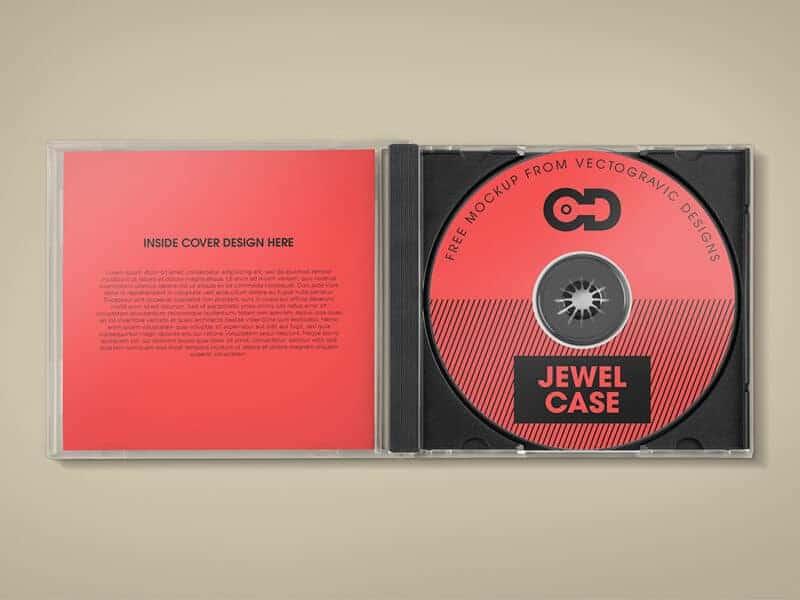free cd jewel case mockup on vectogravic design. Black Bedroom Furniture Sets. Home Design Ideas