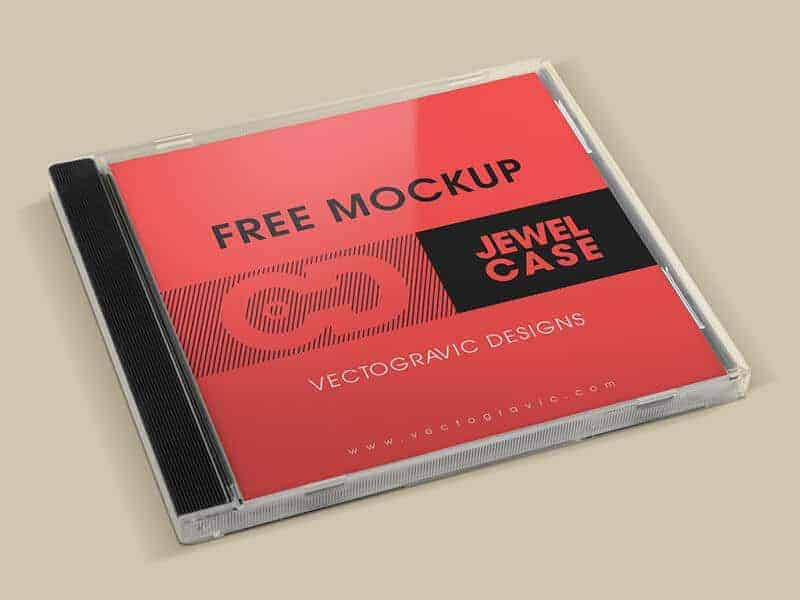 Free CD Jewel Case Mockup 03