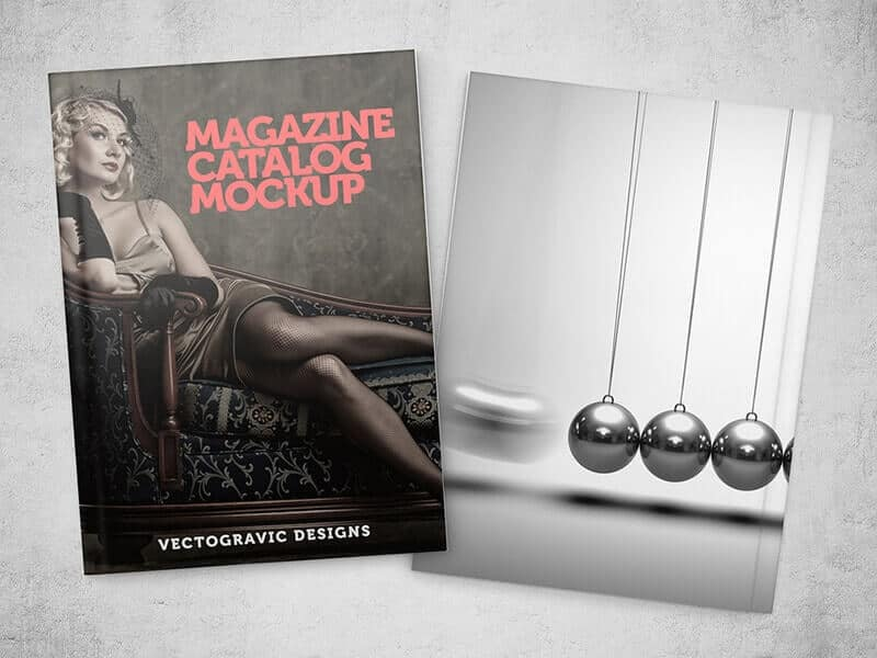 Free Magazine Catalog Mockup 02
