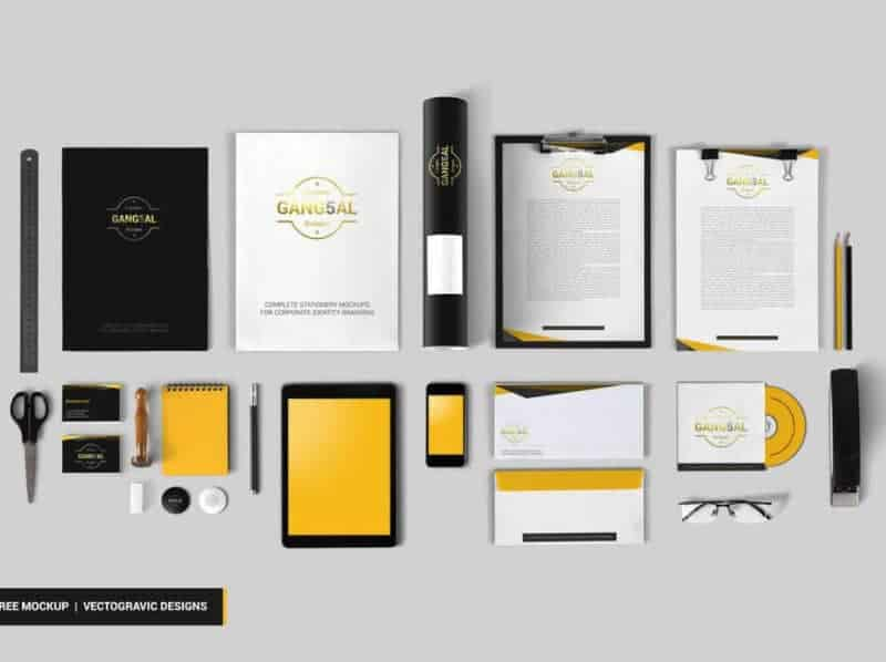 Free Stationery Mockup Vectogravic