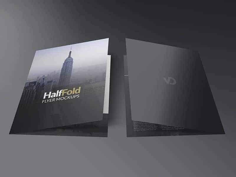 Free Half Fold Flyer Mockups