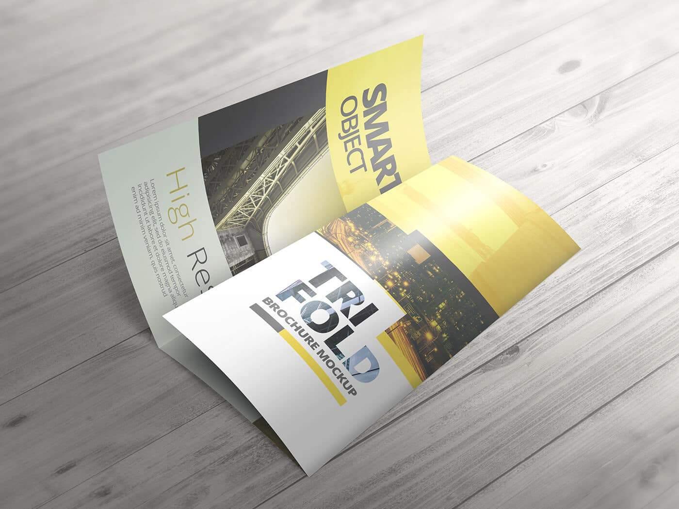 High Resolution Tri Fold Brochure Mockup 01