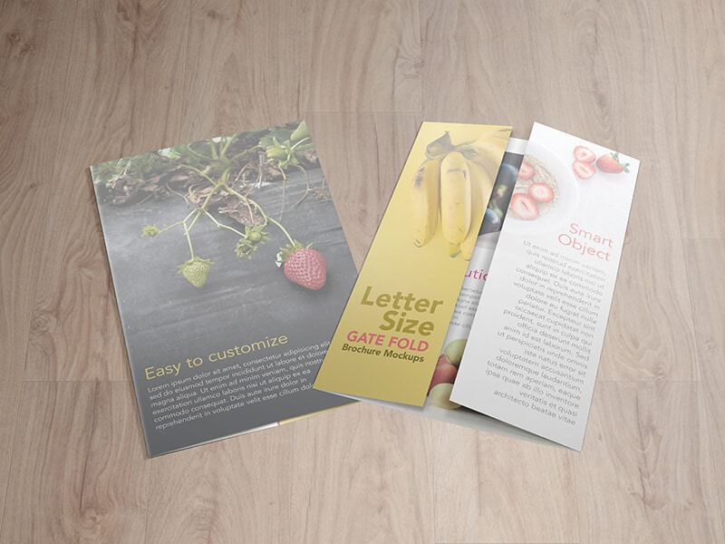 8.5X11 Gatefold Brochure Mockups By Vectogravic Designs