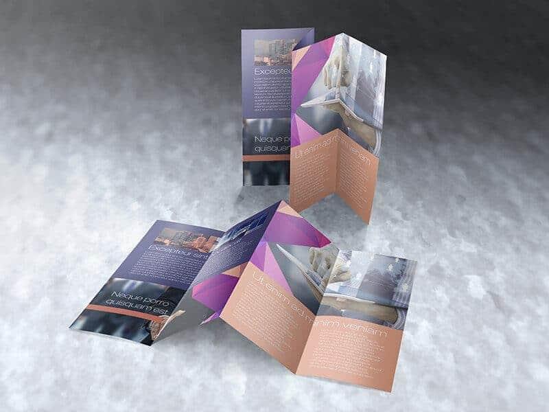 Legal Size Four Panel Brochure Mockups