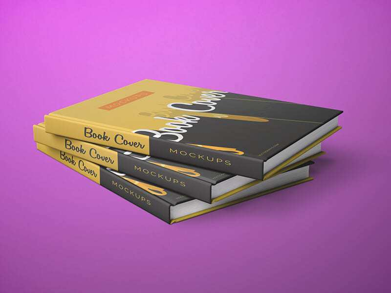 Simple Book Cover Mockup : Simple front and back cover book mockups on vectogravic
