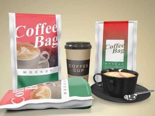 Free Coffee Bag Mockup