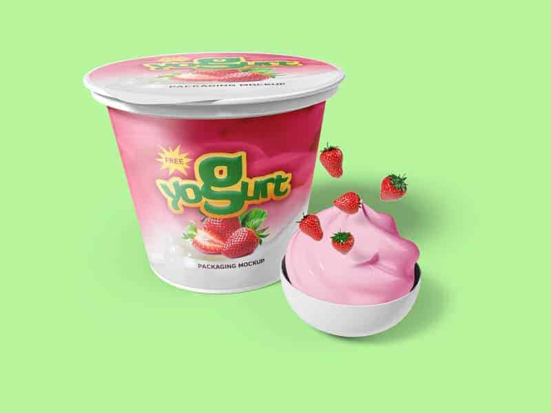 Yogurt packaging Mockups