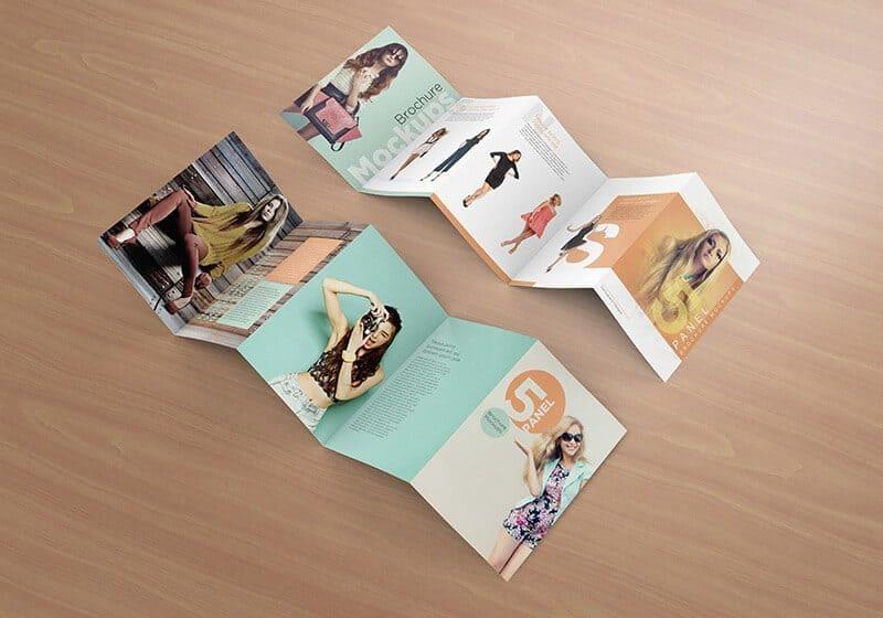 Five Panel Brochure Mockups