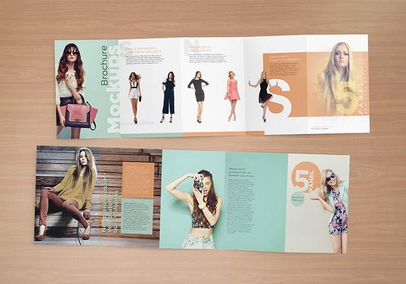 Five Panel Brochure Mockups 07