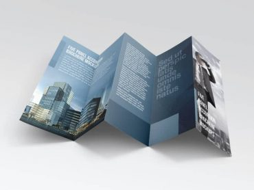 Five panel accordion brochure mockups