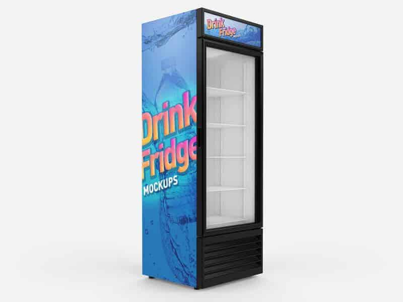 Ice Fridge Refrigerator mockup 01 - Free Drink Fridge Refrigerator Mockups