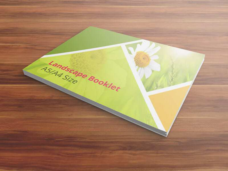 Booklet Mockups—A5 A4 Size 01