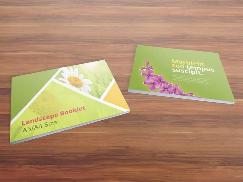 Booklet Mockups – A5/A4 Size