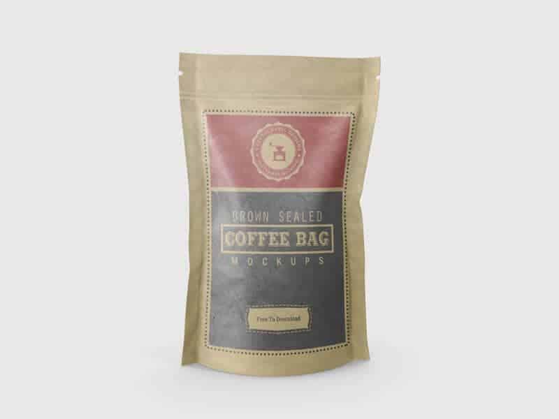 Brown Sealed Coffee Bag Mockups 01 - Brown Sealed Coffee Bag Mockups