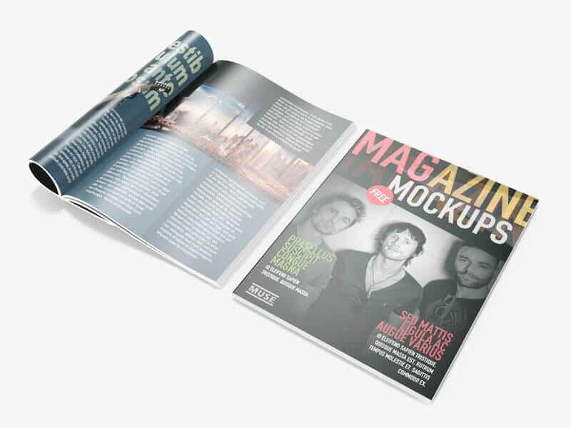 Free Magazine Mockups v2