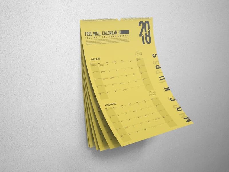 Free Wall Calendar Mockups