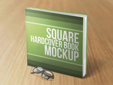 Square Hardcover Book Mockups