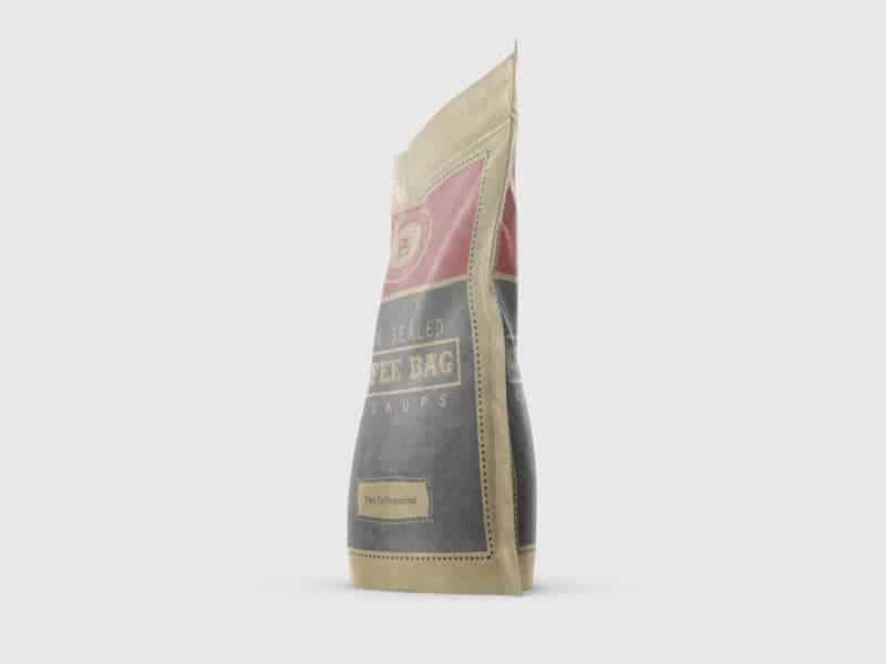 Vacuum Sealed  Bags   Bag 2 Paper - Brown Sealed Coffee Bag Mockups