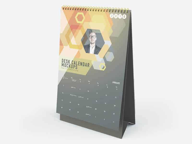 Vertical Desk Calendar Mockups