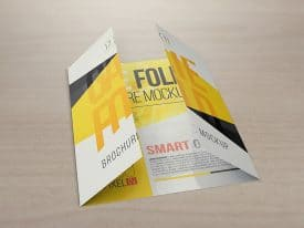 17 x 11 Gate Fold Brochure Mockups