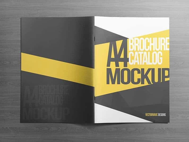 A4 brochure Catalog mockup