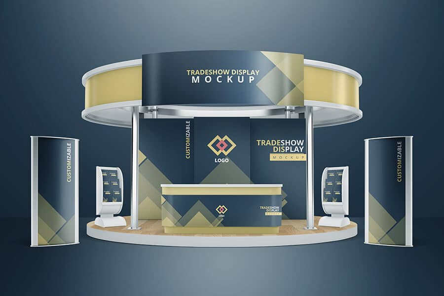 Exhibition Stand Mockup Free Download : Trade show booth mockup mockups