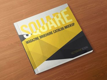 Square Magazine Brochure Catalog Mockups