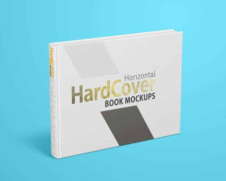 Landscape Hardcover Book Mock ups