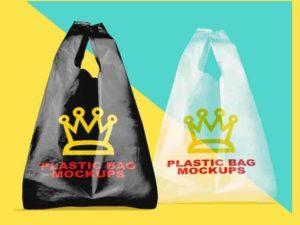 Free Plastic Bag Mock ups