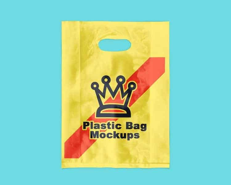 Free Plastic Bag Mock ups