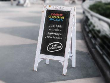 Signboard Chalkboard Mock-ups