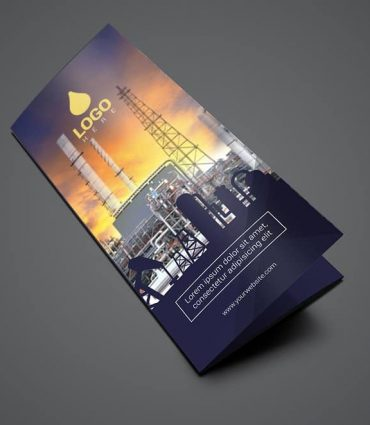 Trifold Oil and Gas Flyer Template