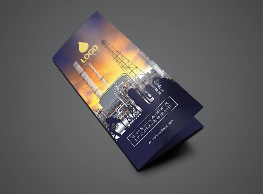 01 Trifold Oil And Gas Flyer Template