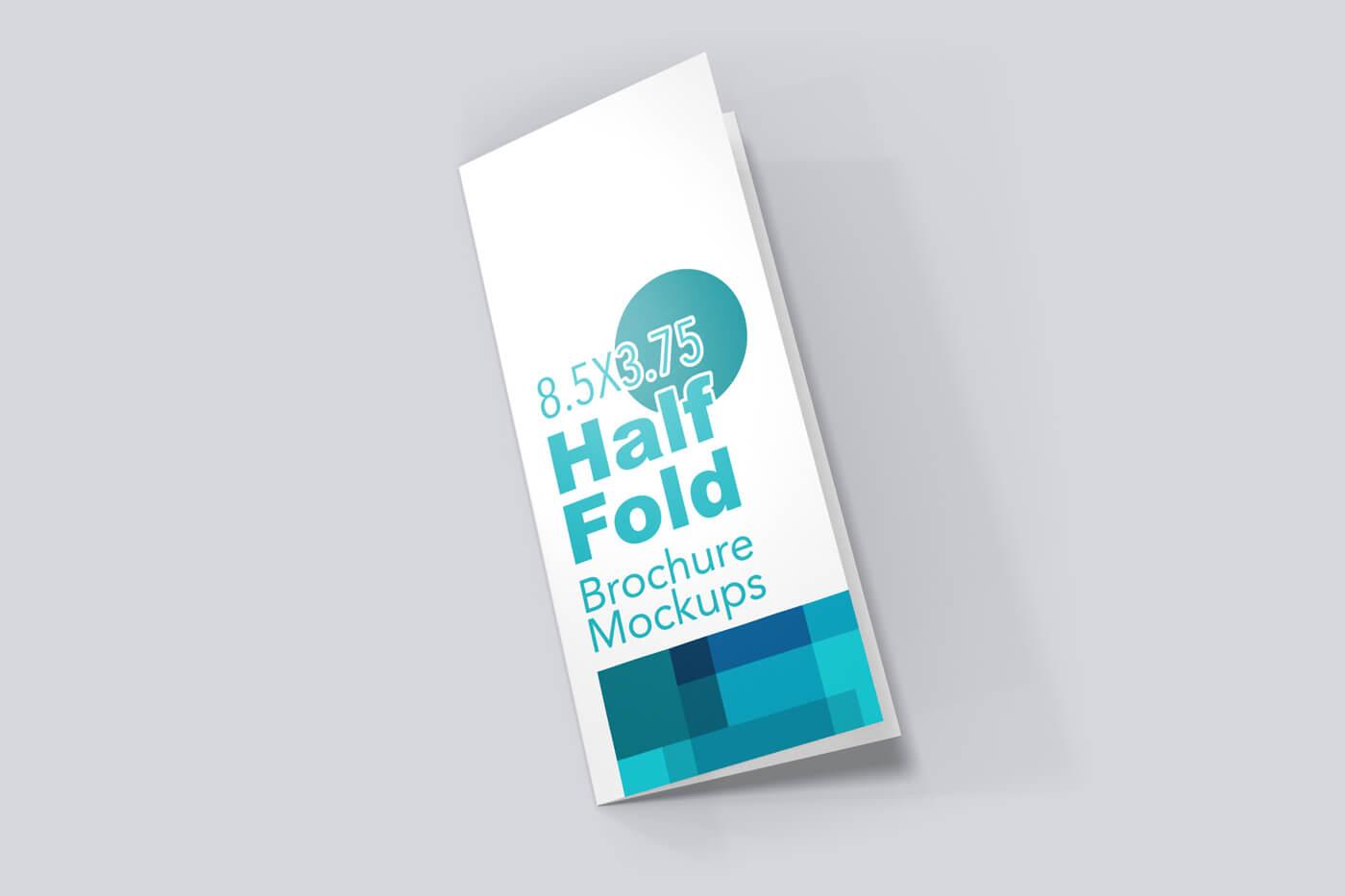 8.5x5.5 Half Fold Vertical Brochure Mockup 01